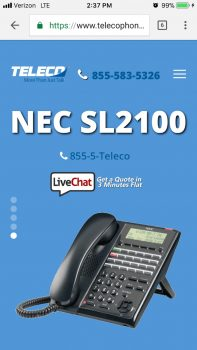 Teleco Business Telephone Systems | Mobile Website