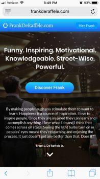 Frank De Raffele | Mobile Site