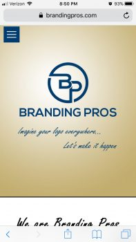 Branding Pros | Mobile Homepage