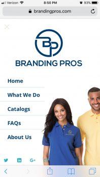 Branding Pros | Mobile Menu
